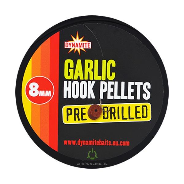 Пеллетс насадочный DYNAMITE BAITS Garlic 8 мм (просверл.)