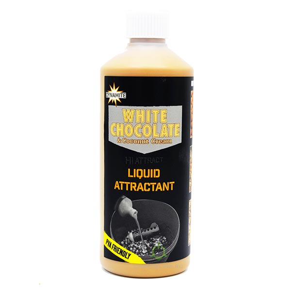 Жидкость Dynamite Baits Liquid Attractant - White Chocolate & Coconut 500мл.
