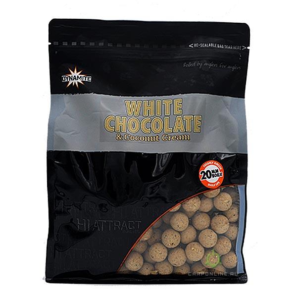 Бойлы тонущие Dynamite Baits 20 мм. White Chocolate & Coconut Cream 1 кг.