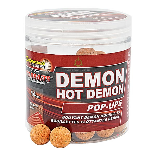 Бойлы плавающие Starbaits Performance Concept HOT DEMON Pop-ups 14мм 80 гр.