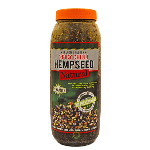 Смесь зерновых Dynamite Baits Frenzied Feeder Spicy Chilli Hempseed Jar