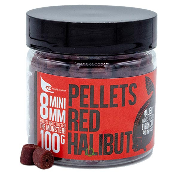Пеллетс насадочный FFEM Hookbaits Pellets Red Halibut 8 mm