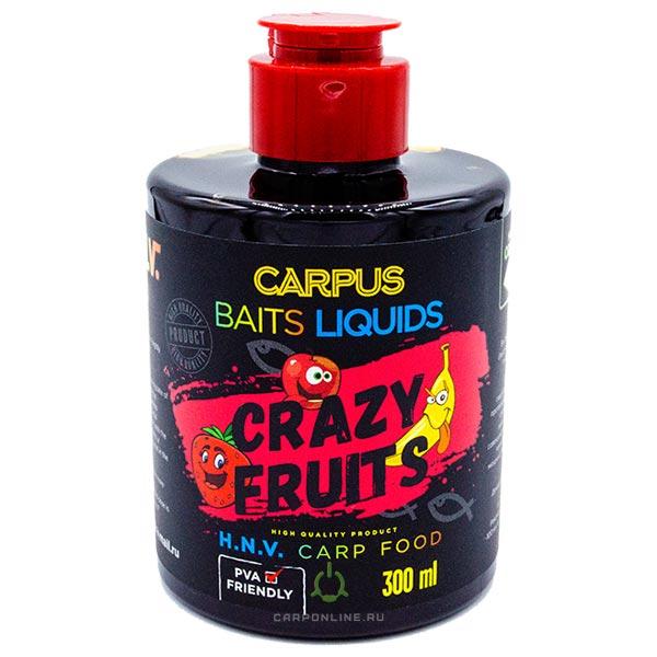 Ликвид CARPUS baits CRAZY FRUITS (фрукты) 300 мл