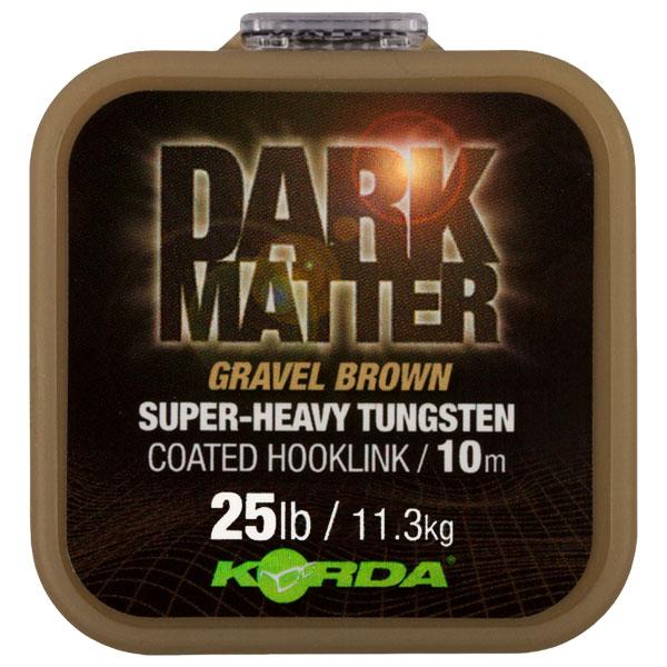 Поводковый материал Korda Dark Matter Tungsten Coated Braid Gravel Brown 25lb 10м