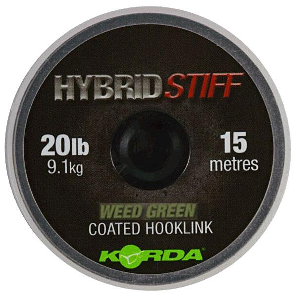 Плетеный шоклидер Korda Hybrid Stiff Weedy green 20lb 15м