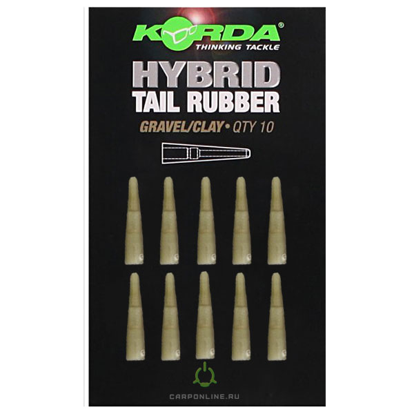 Конус для безопасной клипсы Korda Hybrid Tail Rubber Gravel/Clay