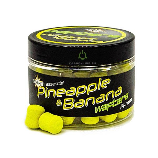 Насадка Dynamite Baits Fluro Wafter - Pineapple & Banana - 14 мм.