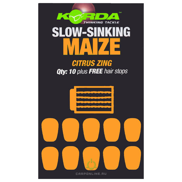 Имитационная приманка KORDA Maize Slow Sinking Citrus Zing Orange