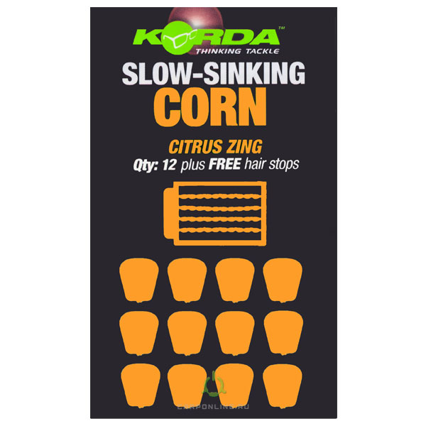 Имитационная приманка KORDA Slow Sinking Corn Citrus Zing Orange