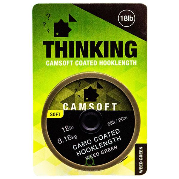 Поводковый материал в оплетке Thinking Anglers Camsoft Hooklength Camo Weed Green 18LB