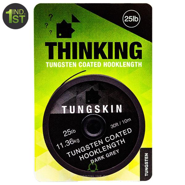 Поводковый материал в оплетке Thinking Anglers Tungskin Hooklength 25LB