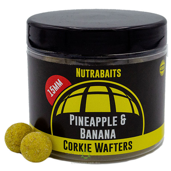 Бойлы насадочные Nutrabaits Pineapple & Banana Wafters 15мм