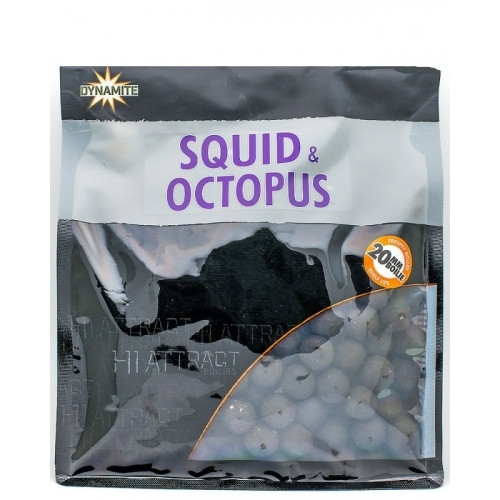 Бойлы тонущие Dynamite Baits Squid & Octopus 20 мм. 1 кг.