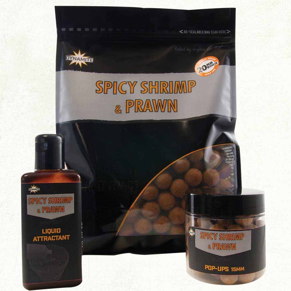 Бойлы тонущие Dynamite Baits Spicy Shrimp & Prawn 20 мм. 1 кг.