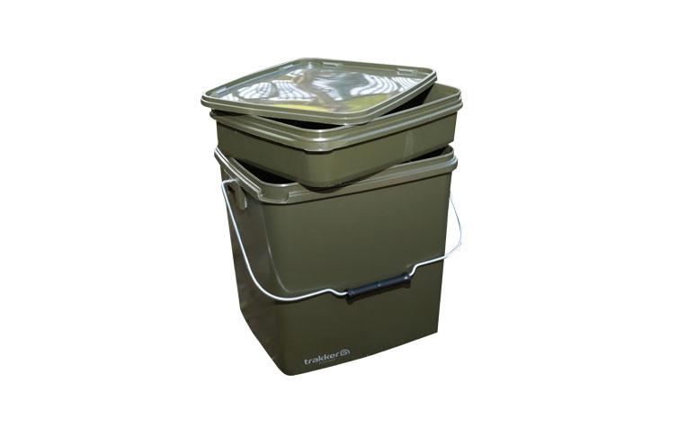 Ведро с контейнером Trakker Olive Square Container 13 литров